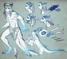 idk some lizard demon guy by Helix-Wing