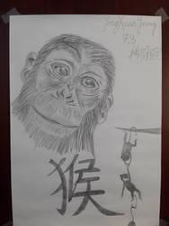 Monkey by redblueandgold