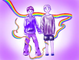 Pride Flag--Spirit by redblueandgold