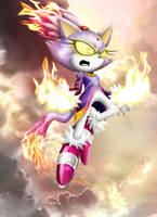 Blaze the Cat by Ahyicodae