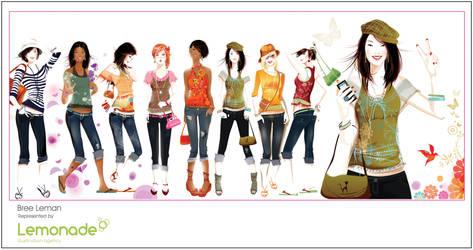teen fashion illustration by BreeLeman