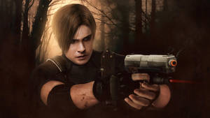 Resident evil 4, Leon Kennedy wallpaper by push-pulse