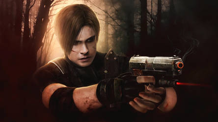 Photorealistic Leon Kennedy RE4 wallpaper1920x1080 by push-pulse