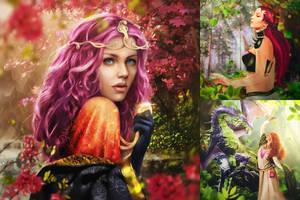 Fantasy girls by push-pulse