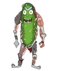 Pickle Rick by TheLittledDemonCat
