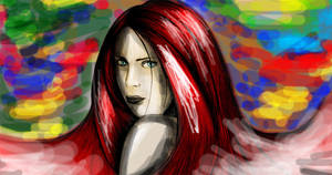 girl red hair by sanderndreca