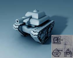 tank c4d by sanderndreca