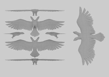 Eagle of Albania 3D wireframe by sanderndreca