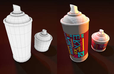 3D lowPoly Spray by sanderndreca