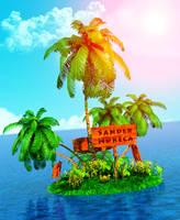 My island in 3d by sanderndreca