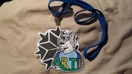 Arti Husky Badge - FurDU 2015 by Arti-ME