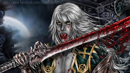 Alucard (Bloody) - Castlevania LOS2 ((Wallpaper)) by Bluue-Rose