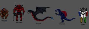 Kaiju Combat Monsters 2 by CosbyDaf