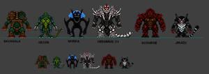 Kaiju Combat Monsters 6 by CosbyDaf