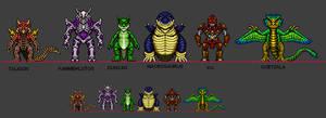Kaiju Combat Monsters 12 by CosbyDaf