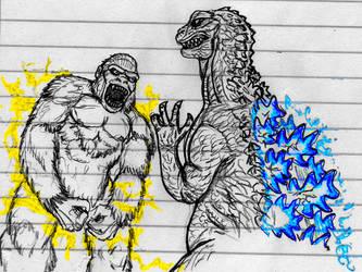 King Kong vs Godzilla sketch by CosbyDaf