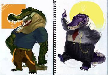 Aligator vs Crocodile by Nutthead
