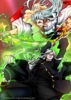Collab Crossover Sesshomaru and Undertaker by Jojofanart