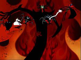 Demongo vs. Aku pt. 1 by darthdac
