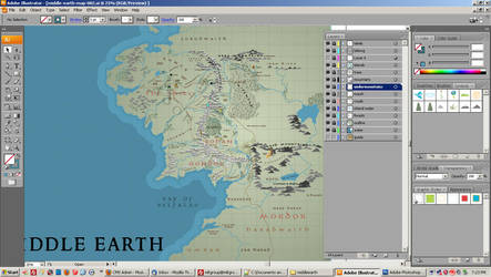 Middle Earth Map - WIP 001 by forbesrobertson