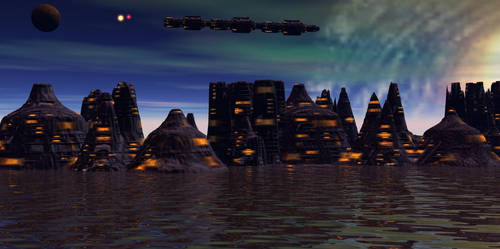 Galaxy edge city by AngeloVentura
