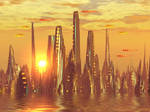 City of golden shadow by AngeloVentura