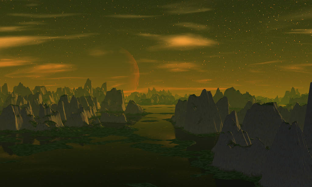 Lost city sunset by AngeloVentura