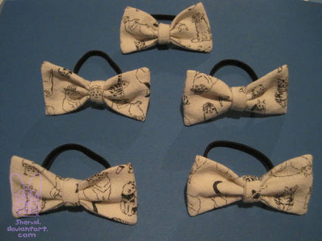 Cat bows by Sherval