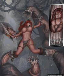 Red Sonja on Skull Island by ForeverNyte