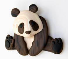 Faux Wood Panda by FauxHead