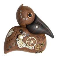 Faux Wood Steampunk Pelican by FauxHead
