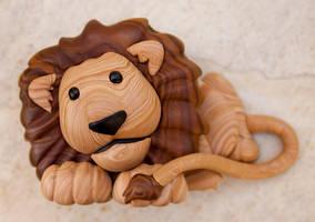 Faux Wood Lion, take 2 by FauxHead