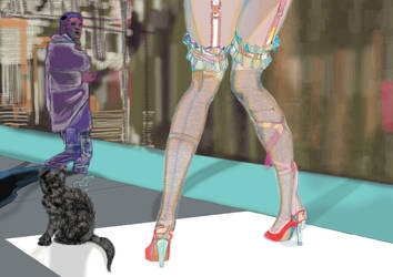 women in high heel shoes by jackpoint23