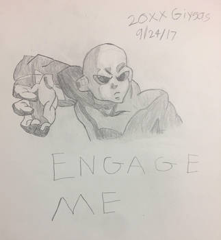 Jiren the Gray but only in Gray by 20XXGiygas