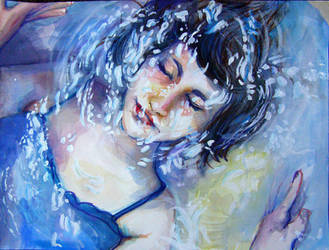 Underwater- watercolor by Shardae