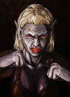 Djarla the drow by anderssoth