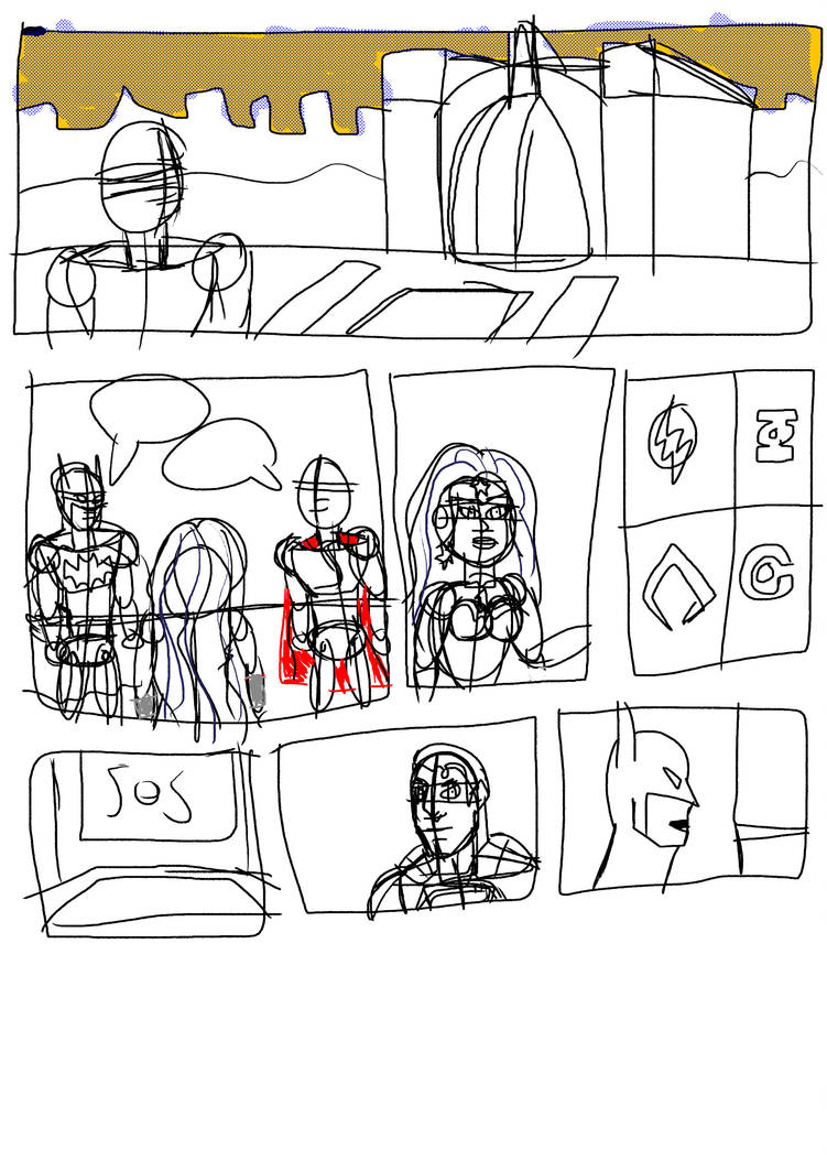 justice league Sketch page by guybracha
