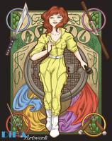 April Nouveau - Now on WeLoveFine.com! by DiHA-Artwork