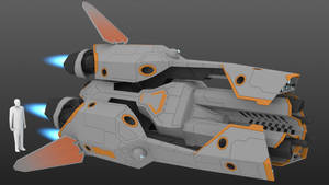 Alliance Space Battle Drone WIP_06 by darth-biomech