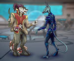 An unexpected encounter by darth-biomech