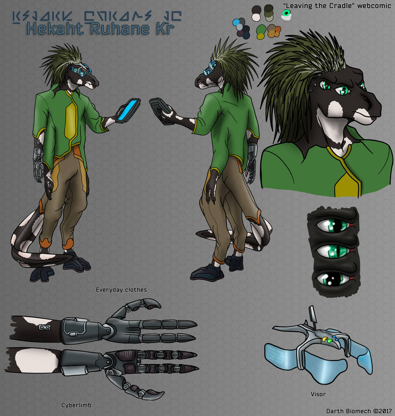 Leaving The Cradle charsheets: Hekaht by darth-biomech