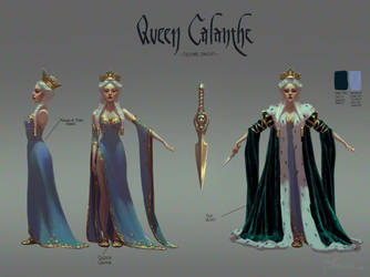 The Witcher: Young Queen Calanthe Costume Concept by Skadivore