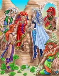 Spardoor Family (Commission) by AmethystSadachbia