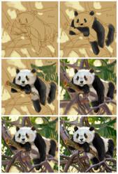 20190104 Panda Tree 1 Steps by mursku