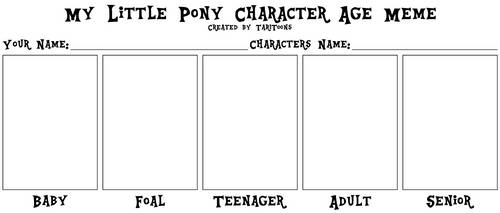 My little Pony Character Age Meme by TariToons