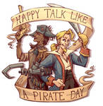 Happy Talk Like A Pirate Day 2016 by TariToons