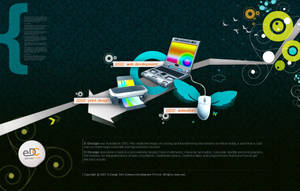 flash interface of a webdesign by cr8iv