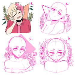 YCH bustshots (CLOSED) by Lily-Draws