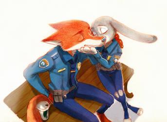 Cheek kiss by Weketa