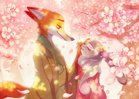 Season of cherry blossoms by Weketa